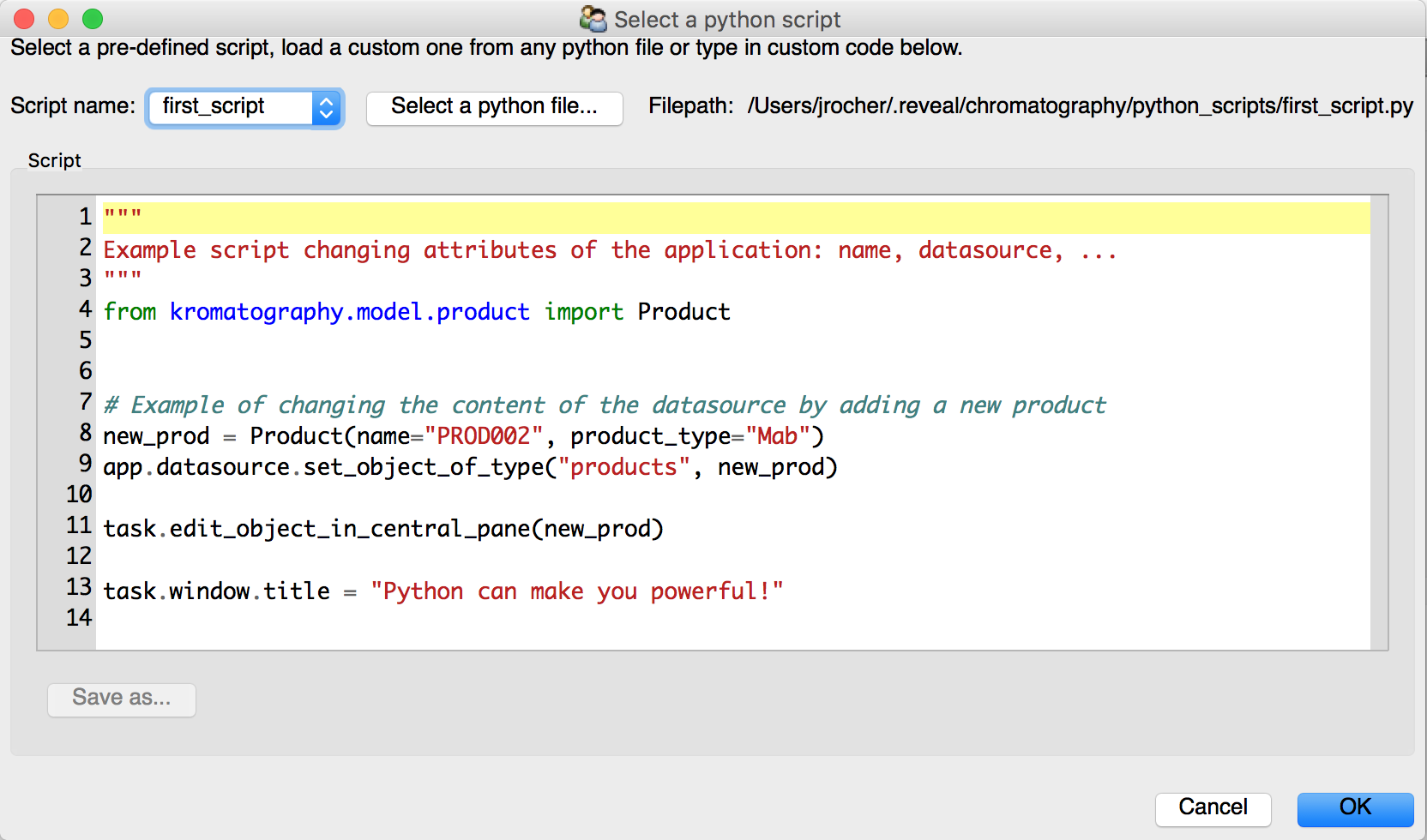 Implementing a custom tool in Reveal: scripting (PRO ONLY